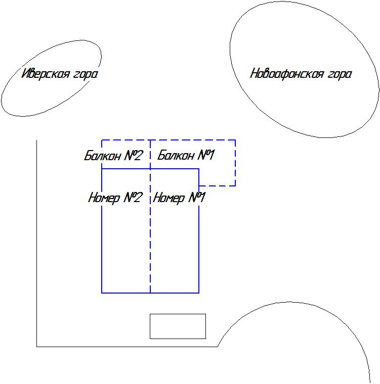 Схема отеля - главный корпус 2 этаж